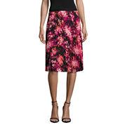 Worthington Floral Pleated Skirt
