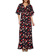 Lily Black Romance Short-Sleeve Maxi Dress