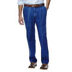 Haggar® Work to Weekend® Pleated Pants–Big & Tall