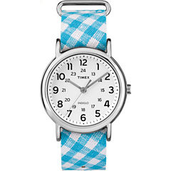 Timex Weekender Womens Blue Strap Watch-Tw2r24400