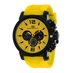 Oceanaut Spider Mens Yellow Silicone Strap Watch