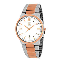 Jivago Clarity Mens Silver-Tone Dial and Rose-Tone Bracelet Watch