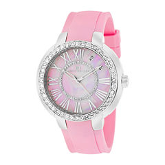 Oceanaut Womens Allure Pink Faux Pearl Dial Pink Rubber Strap Watch