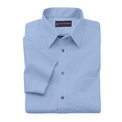 Stafford® Travel Short-Sleeve Performance Super Shirt - Big & Tall