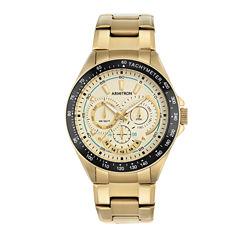 Armitron Mens Gold Tone Bracelet Watch-20/5197chgp