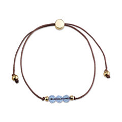 Bridge Jewelry Womens Blue Silver Over Brass Wrap Bracelet
