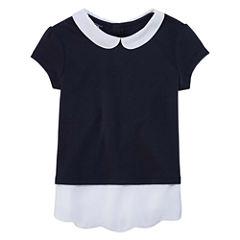 Izod Exclusive Short Sleeve Layered Top - Preschool Girls