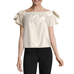 a.n.a Off The Shoulder Shine Top