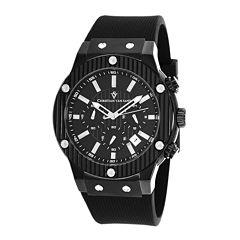 Christian Van Sant Monarchy Mens Black Rubber Strap Watch