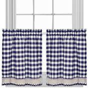 Buffalo Check Rod-Pocket Kitchen Curtains