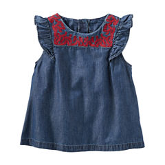 Oshkosh Cap Sleeve Top - Toddler Girls