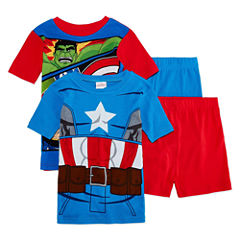 4-pc. Avengers Short Sleeve Pajama Set-Preschool Boys
