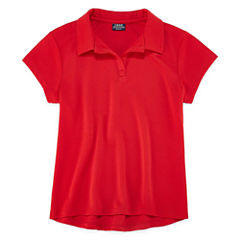 Izod Exclusive Short Sleeve Pique Polo Shirt - Big Kid Girls