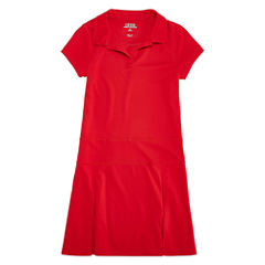 Izod Exclusive Short Sleeve Shirt Dress - Big Kid Girls