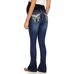 Love Indigo Classic Fit Bootcut Jeans-Plus Maternity