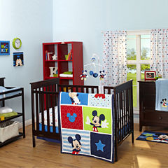 Disney Mickey Mouse 3-pc. Crib Bedding Set