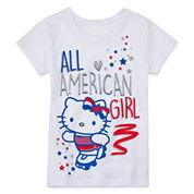 Hello Kitty® Americana Short-Sleeve Tee - Preschool Girls 4-6x