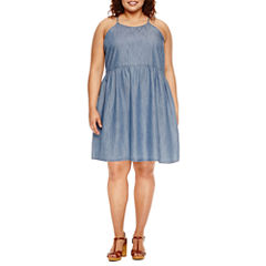 Arizona High Neck Dress - Juniors Plus
