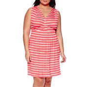 a.n.a® Sleeveless Empire Waist Gathered Midi Dress - Plus