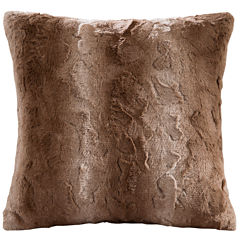 Madison Park Marselle Faux Fur Square Pillow
