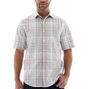 Claiborne® Short-Sleeve Plaid Woven Shirt