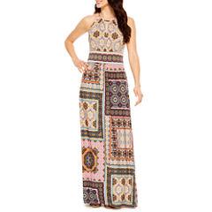 London Style Sleeveless Maxi Dress