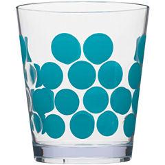 Zak Designs® Dot Set of 6 Plastic Double Old-Fashioned Glasses