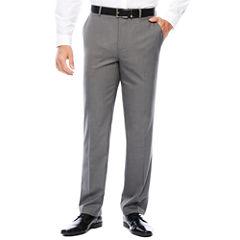 Men's J.Ferrar Stretch Flat-Front Gray Sharkskin Slim Fit Suit Pant