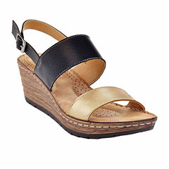 Henry Ferrera Comfort-3 Womens Wedge Sandals