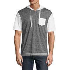 Distortion Short Sleeve Knit Hoodie