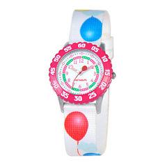 Red Balloon™ Girls' White Balloon Strap Watch