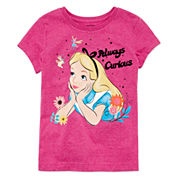 Disney Collection Short-Sleeve Alice Graphic Tee - Girls 7-16