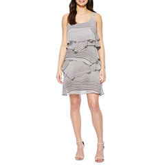 Robbie Bee Sleeveless Shift Dress
