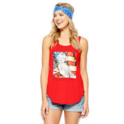 Marilyn Monroe Tank Top + Headband-Juniors
