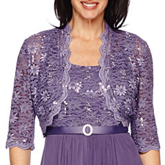 R&M Richards 3/4-Sleeve Lace Jacket Dress