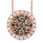 LIMITED QUANTITIES 1 CT. T.W. White and Color-Enhanced Champagne Diamond Pendant Necklace