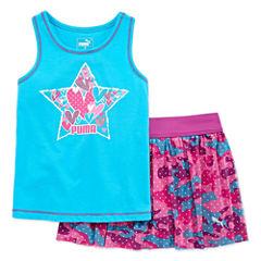 Puma 2-pc. Skort Set Preschool Girls