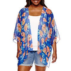 Arizona 3/4 Sleeve Pattern Kimono Juniors Plus