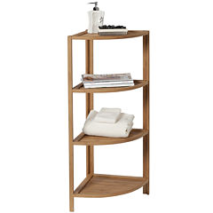 Creative Bath™ Eco Styles Bamboo 4-Shelf Corner Tower