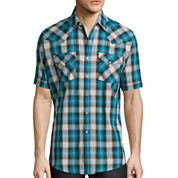 Ely Cattleman® Short-Sleeve Western Plaid Snap Shirt