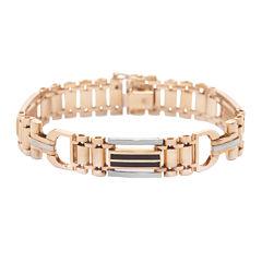 Mens 14K White Gold with Onyx Bracelet