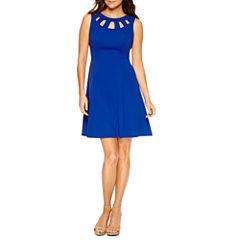 Alyx Sleeveless Fit & Flare Dress-Petites