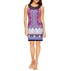 Studio 1 Sleeveless Embellished Shift Dress-Petites
