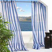 Escape Stripe Grommet-Top Outdoor Curtain Panel