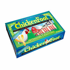 Puremco ChickenFoot Double 9 Color Dot Dominoes -Tournament Size