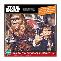 Buffalo Games Star Wars Photomosaics - Han Solo &Chewbacca: 1000 Pcs