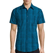 JF J. Ferrar® Short-Sleeve Woven Slim-Fit Shirt