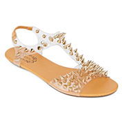 N.Y.L.A. Jeralisa Studded Clear Sandals