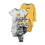 Carter's® 3-pc. Short-Sleeve Bodysuits & Pants Set - Baby Boys newborn-24m