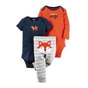 Carter's® 3-pc. Fox Layette Set - Baby Boys newborn-24m